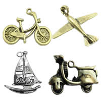 Vehicle Shaped Zinc Alloy Pendants
