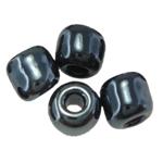 Glänzende Glas-Rocailles, rund, Schimmer, schwarz, 2x3mm, Bohrung:ca. 0.3mm, ca. 15000PCs/Tasche, verkauft von Tasche