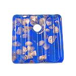 Rërë Pendants Gold Lampwork, 40x40x6mm, : 7mm, 12PC/Kuti,  Kuti