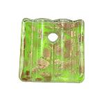 Rërë Pendants Gold Lampwork, 39x40x8mm, : 7mm, 12PC/Kuti,  Kuti