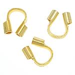 Tunxh Wire Mbrojtësi, ngjyrë ari praruar, asnjë, , nikel çojë \x26amp; kadmium falas, 4.20x4.30x1.30mm, : 0.8mm, 5000PC/Qese,  Qese
