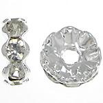 Ndarësit diamant i rremë, Petull e ëmbël në formë gjevreku, i praruar, Kristal, 10x10x4mm, : 2.3mm, 500PC/Qese,  Qese