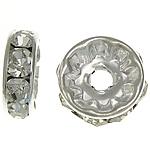 Ndarësit diamant i rremë, Petull e ëmbël në formë gjevreku, i praruar, Kristal, 10x10x3.80mm, : 2.2mm, 500PC/Qese,  Qese