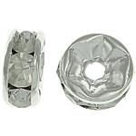 Ndarësit diamant i rremë, Petull e ëmbël në formë gjevreku, i praruar, Kristal, 6x6x2.80mm, : 1.5mm, 500PC/Qese,  Qese