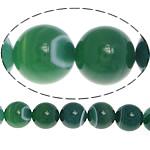 Beads Dashuri Green agat, Jeshile agat, Round, asnjë, shirit, 6mm, : 1.5mm, :15.5Inç, 5Fillesat/Shumë,  Shumë