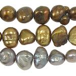 Barok Beads kulturuar Pearl ujërave të ëmbla, Pearl kulturuar ujërave të ëmbla, ngjyra të përziera, 4-5mm, : 0.8mm, :15Inç, 10Fillesat/Qese,  Qese