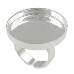 Bezel Brass Ring Base, Tunxh, ngjyrë platin praruar, asnjë, , nikel çojë \x26amp; kadmium falas, 26x26mm, 25x25mm, : 18mm, : 25mm, :8, 50PC/Qese,  Qese