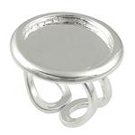 Bezel Brass Ring Base, Tunxh, i praruar, asnjë, , nikel çojë \x26amp; kadmium falas, 26x26mm, 21x21mm, : 18.5mm, : 21mm, :8.5, 30PC/Qese,  Qese