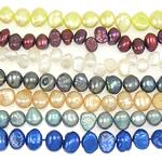 Barok Beads kulturuar Pearl ujërave të ëmbla, Pearl kulturuar ujërave të ëmbla, Një, 7-8mm, : 0.8mm, :15Inç, 10PC/Qese,  Qese