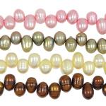 Cluster Ball Beads kulturuar Pearl, Një, 8-9mm, : 1mm, :15.5Inç,  Qese