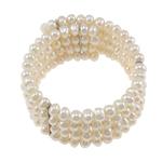 Kulturuar ujërave të ëmbla Pearl byzylyk, Pearl kulturuar ujërave të ëmbla, e bardhë, 5x6mm, :7.5Inç,  PC