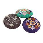 Beads polimer balta, Polymer Clay, Round Flat, asnjë, ngjyra të përziera, 20x20x7mm, : 2mm, 20PC/Qese,  Qese