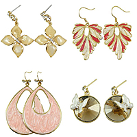 Enamel Zinc Alloy Drop Earring