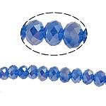 Rondelle Beads Crystal, Kristal, imitim kristal Swarovski, Safir, 8x10mm, : 2mm, :22Inç, 10Fillesat/Qese,  Qese