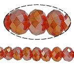Rondelle Beads Crystal, Kristal, imitim kristal Swarovski, Siam, 4x6mm, : 1mm, :17Inç, 10Fillesat/Shumë,  Shumë