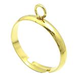 Loop Brass Ring Base, Tunxh, ngjyrë ari praruar, asnjë, , nikel çojë \x26amp; kadmium falas, 3mm, : 16.5mm, :6.5, 500PC/Qese,  Qese