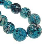 Rain Beads lule gur, Lule Rain Stone, Round, natyror, 10-20mm, :17Inç, 5Fillesat/Shumë,  Shumë