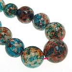Regen Blumen Stein Perlen, rund, synthetisch, 10-20mm, Bohrung:ca. 1mm, Länge:16 ZollInch, 5SträngeStrang/Menge, verkauft von Menge