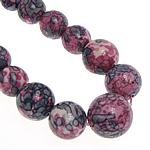 Regen Blumen Stein Perlen, rund, synthetisch, 6-14mm, Länge:ca. 17.5 ZollInch, 5SträngeStrang/Menge, verkauft von Menge