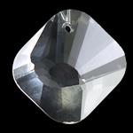 Crystal Pendants, Kristal, Katror, Kristal, 23x23x10mm, : 1mm, 10PC/Qese,  Qese