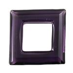 Crystal Pendants, Kristal, Katror, Ametist, 30x30x6mm, : 15x15mm,  PC