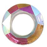 Crystal Pendants, Kristal, Petull e ëmbël në formë gjevreku, 30x8mm, : 17mm,  PC