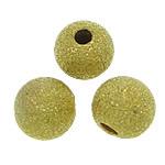 Tunxh Beads Stardust, Round, ngjyrë ari praruar, asnjë, , nikel çojë \x26amp; kadmium falas, 6mm, : 1.5mm, 3000PC/Qese,  Qese
