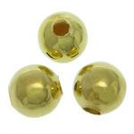 Messing Schmuckperlen, rund, goldfarben plattiert, glatt, frei von Blei & Kadmium, 5mm, Bohrung:ca. 1.5mm, 5000PCs/Tasche, verkauft von Tasche