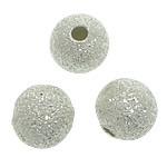 Tunxh Beads Stardust, Round, Ngjyra argjend praruar, asnjë, , nikel çojë \x26amp; kadmium falas, 6mm, : 1.5mm, 3000PC/Qese,  Qese