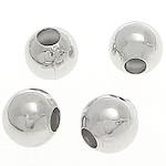 Beads bizhuteri bronzi, Tunxh, Round, Ngjyra argjend praruar, 3mm, : 1mm, 20000PC/Qese,  Qese