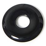Pendants Zi agat, Black agat, Petull e ëmbël në formë gjevreku, 30x30x4mm, : 10mm, 50PC/Shumë,  Shumë