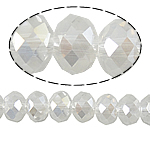 Rondelle Beads Crystal, Kristal, imitim kristal Swarovski, Kristal, 8x6mm, : 1mm, :15.5Inç, 10Fillesat/Qese,  Qese