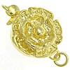 925 Sterling Silver Box kapje, Lule, ari praruar vërtetë, vetme-fillesë, asnjë, 11.50x11.50mm, : 2mm,  PC