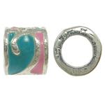 Zink Legierung Europa Perlen, Zinklegierung, Rondell, ohne troll & Emaille, frei von Nickel, Blei & Kadmium, 8x8mm, Bohrung:ca. 5mm, 10PCs/Tasche, verkauft von Tasche