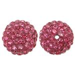 Rrëshirë Beads diamant i rremë, Round, asnjë, me diamant i rremë, Trëndafil, 12x12mm, : 1mm, 10PC/Qese,  Qese