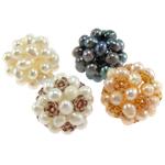 Ball Cluster Zuchtperlen, Natürliche kultivierte Süßwasserperlen, rund, gemischte Farben, 20mm, 4PCs/Tasche, verkauft von Tasche