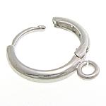 Hop Komponentet bronzi Vath, Tunxh, ngjyrë platin praruar, asnjë, , nikel çojë \x26amp; kadmium falas, 12x15mm, : 2mm, 100Çiftet/Shumë,  Shumë