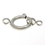 Pranvera Brass Ring kapje, Tunxh, ngjyrë platin praruar, vetme-fillesë, asnjë, , nikel çojë \x26amp; kadmium falas, 14x24mm, : 3mm, 200PC/Shumë,  Shumë
