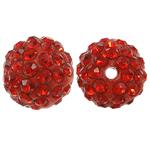 Rrëshirë Beads diamant i rremë, Round, asnjë, me diamant i rremë, Zymbyl, 10x10mm, : 1.5mm, 10PC/Qese,  Qese