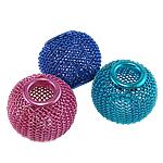 Beads bizhuteri alumini, Daulle, pikturë, ngjyra të përziera, 18x15mm, : 6mm, 100PC/Qese,  Qese