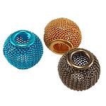 Beads bizhuteri alumini, Daulle, pikturë, ngjyra të përziera, 16x13mm, : 5mm, 100PC/Qese,  Qese