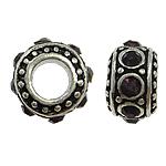 Beads European aliazh zink, Alloy zink, Rondelle, asnjë, pa karrem & smalt & me diamant i rremë, asnjë, , nikel çojë \x26amp; kadmium falas, 11x6mm, : 5mm, 10PC/Qese,  Qese