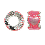 Beads European aliazh zink, Alloy zink, Rondelle, asnjë, pa karrem & smalt, rozë, , nikel çojë \x26amp; kadmium falas, 10.50x7mm, : 5mm, 10PC/Qese,  Qese