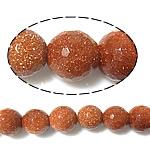 Beads Goldstone, Round, asnjë, 12mm, : 1mm, :14.5Inç, 10Fillesat/Shumë,  Shumë