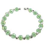 Bracelets Crystal, Kristal, with Tunxh, Rondelle, faceted & me diamant i rremë, 5x8mm, :7Inç, 50Fillesat/Qese,  Qese