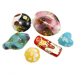 Beads dorë Lampwork, 9-27mm, : 2mm, 80-90PC/Qese,  Qese