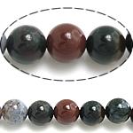 Manik-manik batu akik India alami, Putaran, 14mm, : 1.5mm, : 15.5Inci, 27PC/Strand,  15.5Inci,