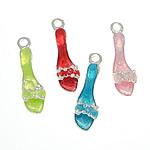Shoes Zink Alloy Pendants, Alloy zink, Këpucët, ngjyra të përziera, , nikel çojë \x26amp; kadmium falas, 7x22.50x5.30mm, : 2mm, 100PC/Qese,  Qese