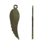 Pendants Zink Alloy Kafshëve, Alloy zink, Shape Wing, Ngjyra antike bronz i praruar, asnjë, , nikel çojë \x26amp; kadmium falas, 9x31x1mm, : 2mm, 900PC/Qese,  Qese