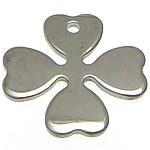 Pendants Stainless Steel bizhuteri, Lule, 17x17x1mm, : 1.5mm, 80PC/Shumë,  Shumë